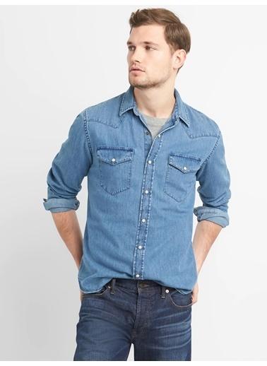 Gap Jean Gömlek İndigo